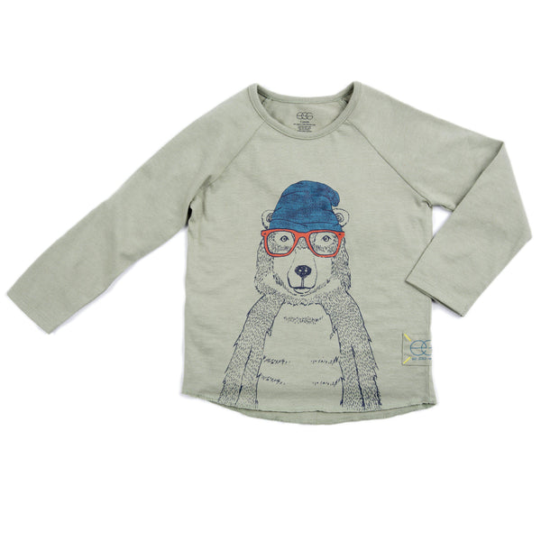 Organic Cool Bear Long Sleeve Dominic Tee