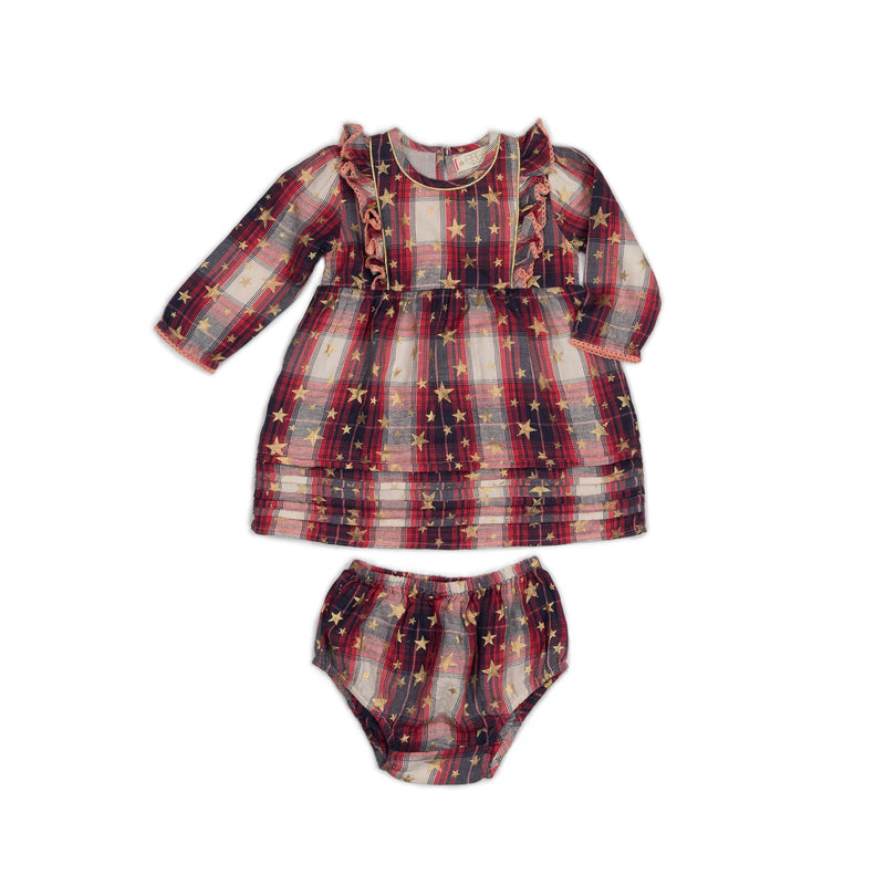 Metallic Plaid Elodie Set