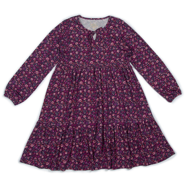 Plum Floral Eleanor Dress