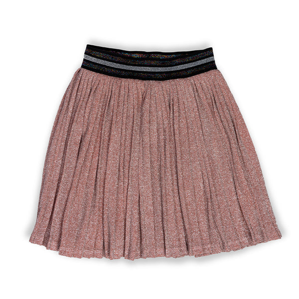 Pleated Metallic Margaret Skirt