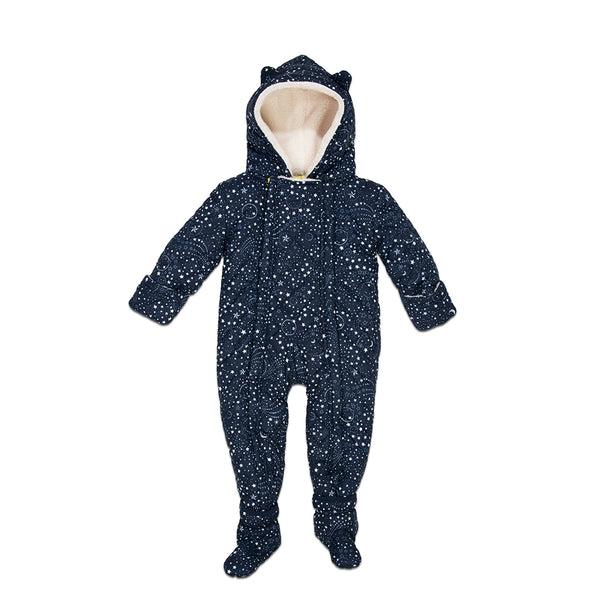 Navy Quilted Nylon Perry Snowsuit
