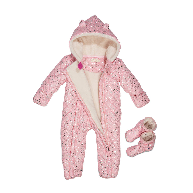 Pink Nylon Perry Snowsuit