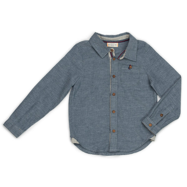 Flannel Chambray Brendan Shirt