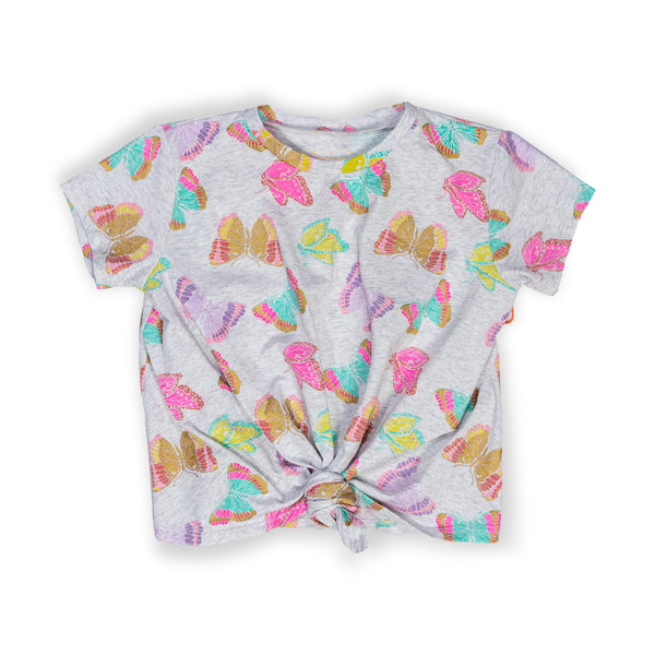 Butterfly Print Rebecca Tee