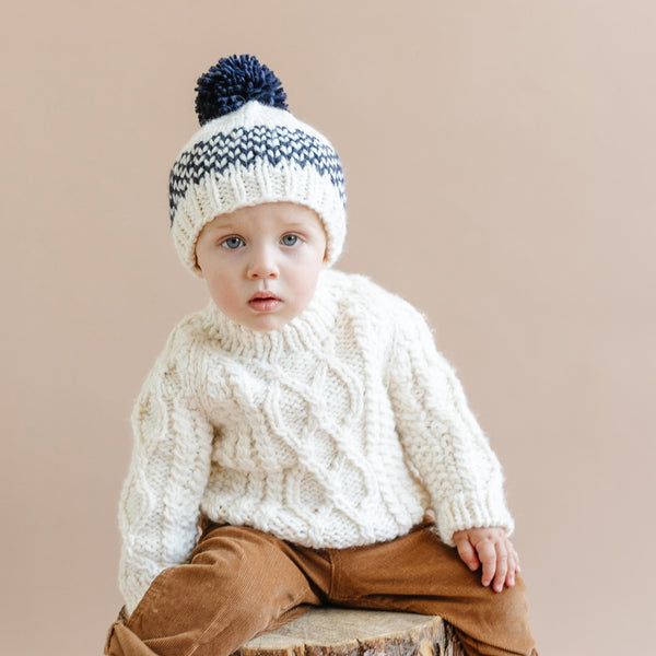 The Blueberry Hill Fair Isle Stripe Hat
