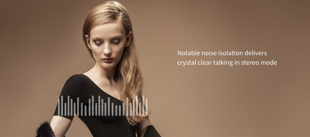 Notable noise isolation - high quality audio - crystal clear voice control with a sleek design