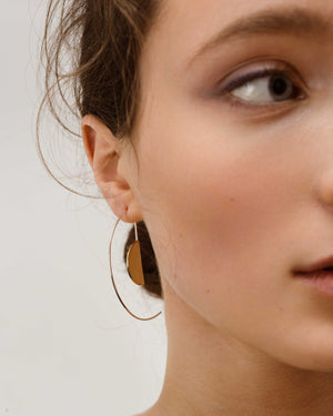 Bauhaus hoop earrings