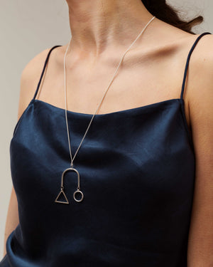 Sterling Silver Geo Shapes Necklace