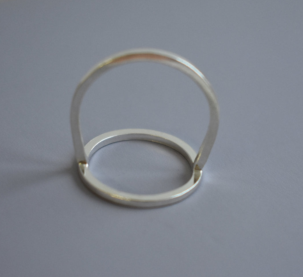 Sterling Silver Open Circle Minimalist Ring, Eternity ring