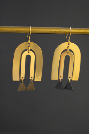 Large Gold Statement Earrings.