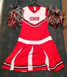 Second Hand Costume - Cheer Leader Costume - approx size AdMed