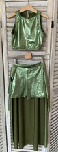 Load image into Gallery viewer, Second Hand Costume - Crop and Shorts, with Skirt - approx size ChXLrg/AdSm