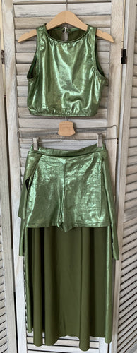 Second Hand Costume - Crop and Shorts, with Skirt - approx size ChXLrg/AdSm