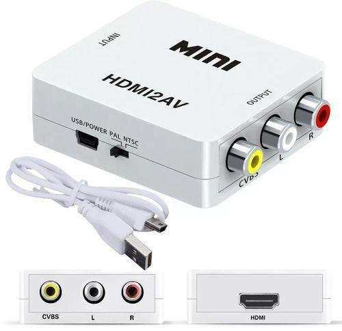 Adaptador convertidor video Rca av a hdmi full HD