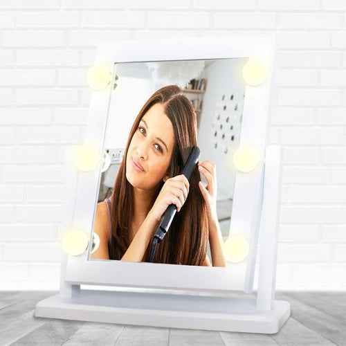 Espejo Luz Led 6 Bombillas Táctil Maquillaje Make up Cosmetic Mirror