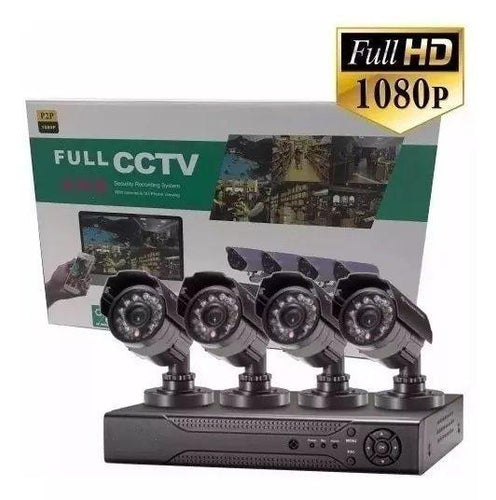 Kit de 4 camaras de seguridad full HD