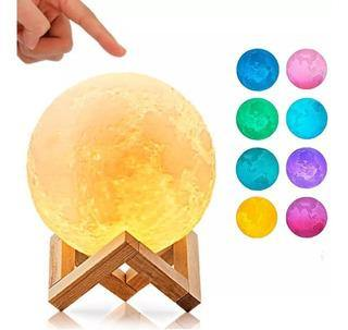 Lampara Luna Led 3D de Colores - Ciber Monkey