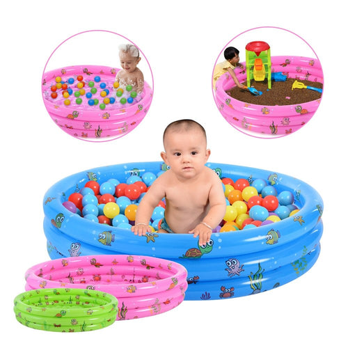 piscina inflable niños 90cm 3 anillos colores