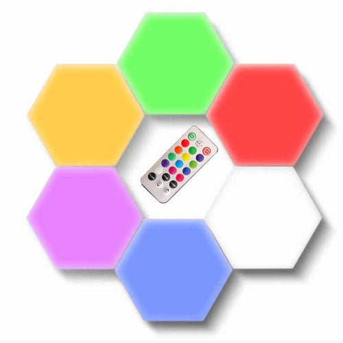 Luz Led De Colores Hexagonal Desmontable Con Control Remoto
