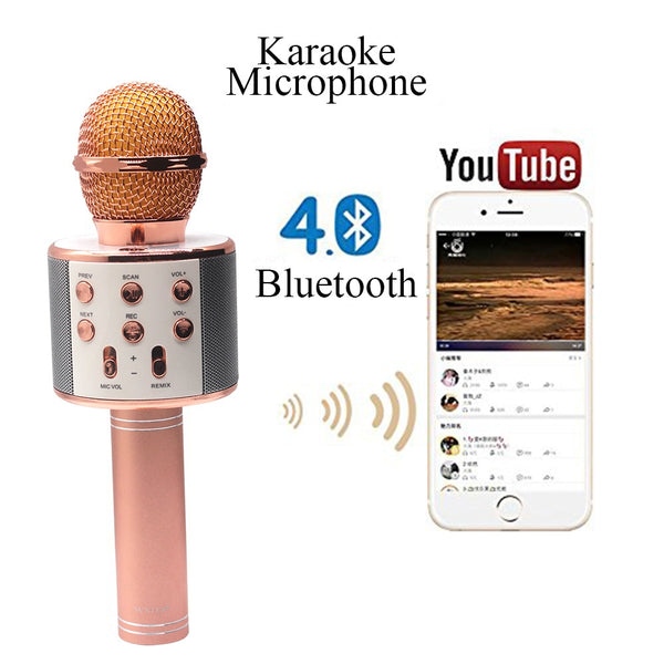 MICROFONO KARAOKE BLUETOOTH RECARGABLE