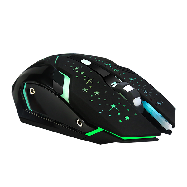 Mouse Gamer inalambrico con luces led de colores