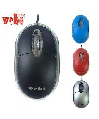 Mouse óptico universal weibo usb