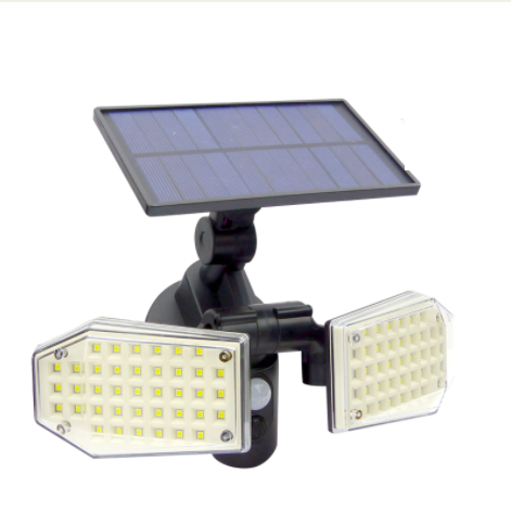Foco Solar Doble 78 LED con Sensor De Movimiento SH-078