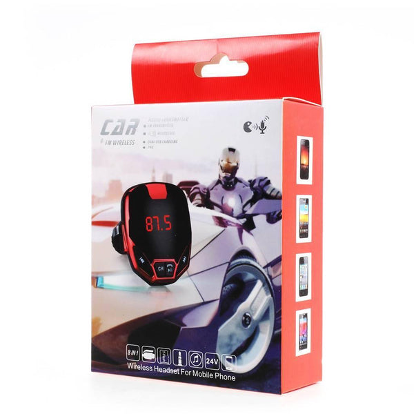 adaptador bluetooth automovil 12 volts pantalla control remoto