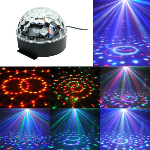 PARLANTE BOLA DISCO BLUETOOTH LUCES LED