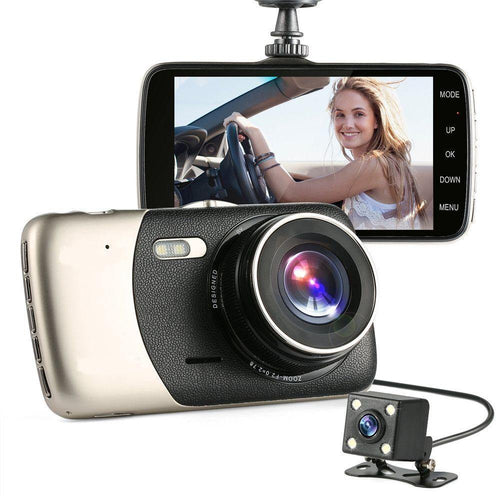 camara de seguridad automovil doble 1080p