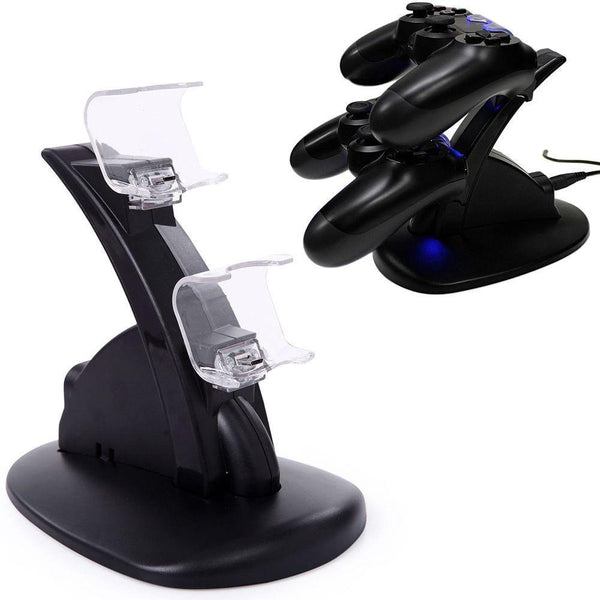 cargador controles ps4 pedestal play station 4 usb