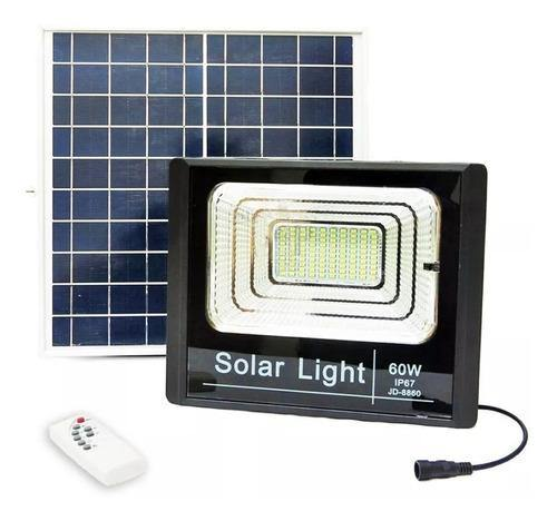 Foco Solar 130 led Con Panel Control 60watts Reflector