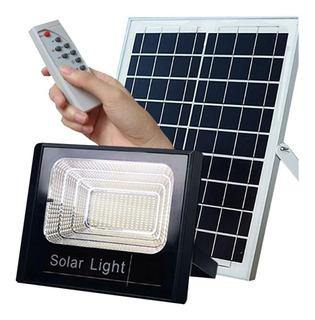 Foco Solar Led Con Panel Control 25 Watts Reflector