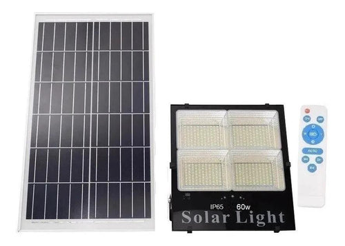 Foco Solar 112 Led Con 4 Panel Control 60 Watts Reflector