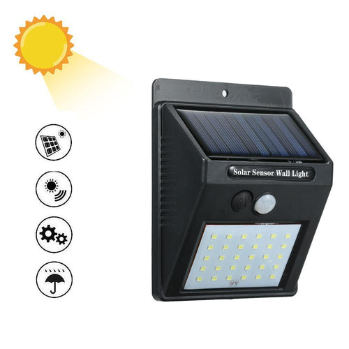 foco led solar sensor movimiento pared