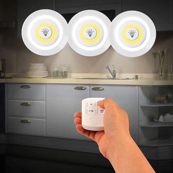 pack 3 luces led emergencia control remoto