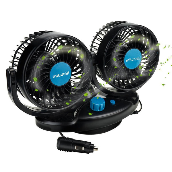 ventilador doble automovil 360º 12 volts aire frio