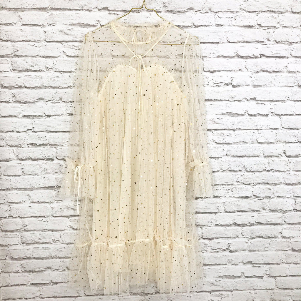 Cream Sheer Dress