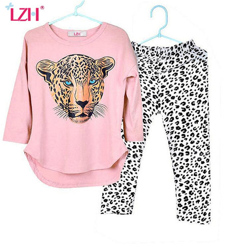 Animal print girls outfit