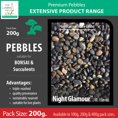 200 grams Night Glamour 10-15mm pebbles