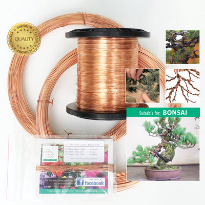 1.5mm Bonsai Wire 99.9% Jewellery Grade Copper Soft Annealed. Train bonsai