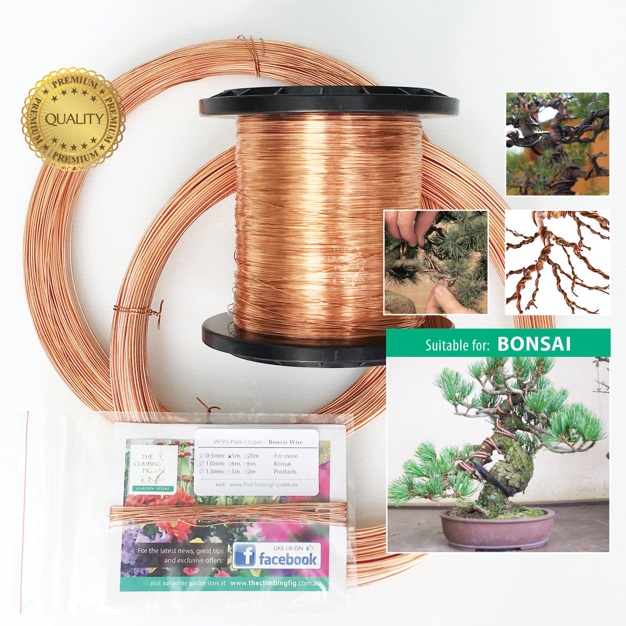 Bonsai Wire 99.9% Jewellery Grade Copper Soft Annealed. To train bonsai plants