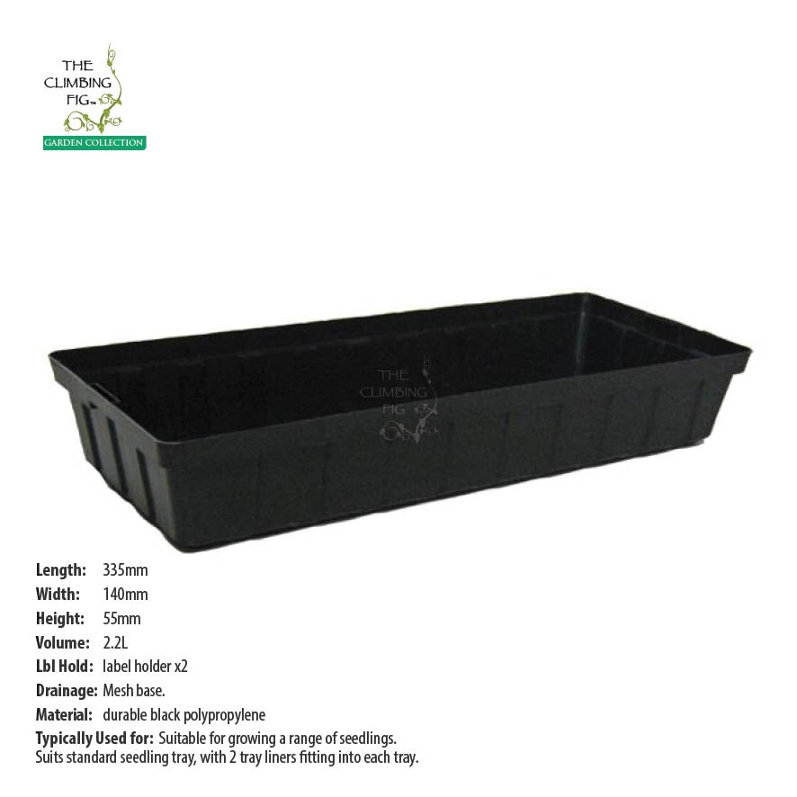 Half Seedling Tray Liner 1-Cell Black