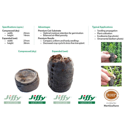 25mm Jiffy-7 Coir Pellets