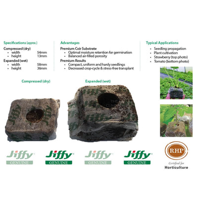 58mm Jiffy Coir Grow Blocks