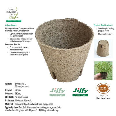 80mm Round Jiffy Pots