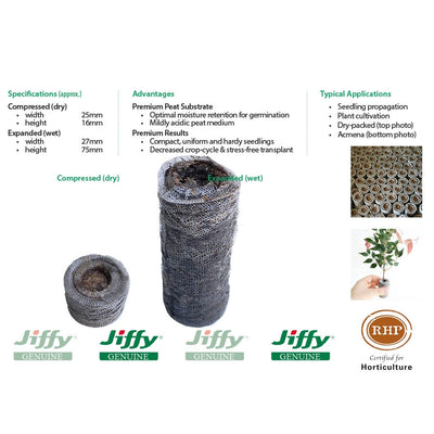 25mm XL Jiffy Peat Pellets