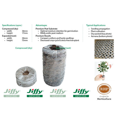 36mm XL Jiffy Peat Pellets