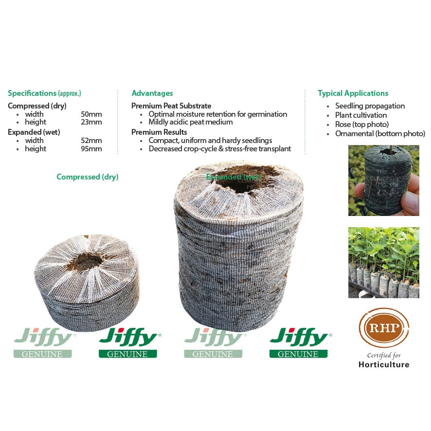 52mm XL Jiffy Peat Pellets