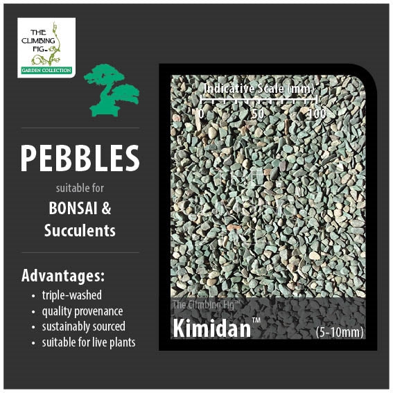 Kimidan 5-10mm Decorative Pebbles. Washed for Bonsai, Succulents & Terrariums